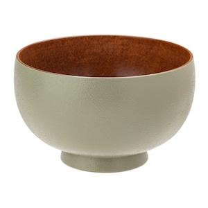 山中漆器 白鷺木工 汁椀 しらさぎ椀 M 約11cm sibo かえで 茶×グリーン  381007