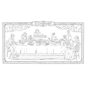 塗り絵『貴婦人たちの優雅なお茶会』