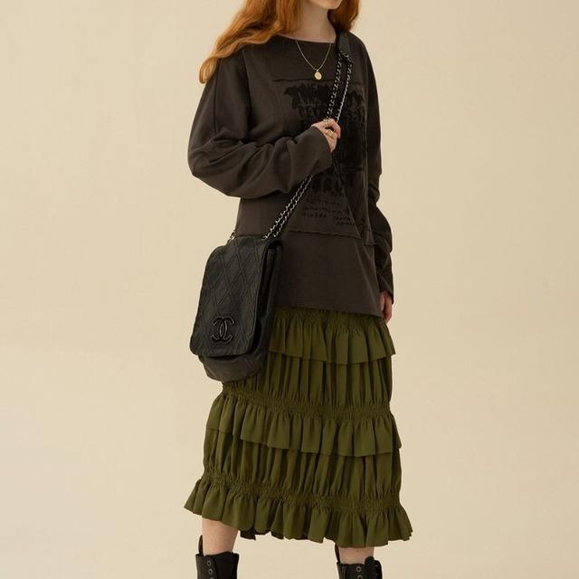Gather pleats skirt KRE1054