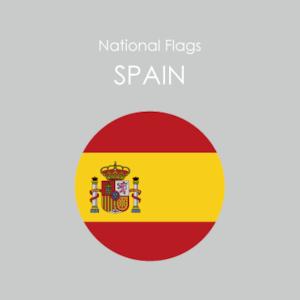 円形国旗ステッカー「スペイン」