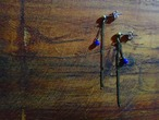 decoravive chain lapis lazuli earrings