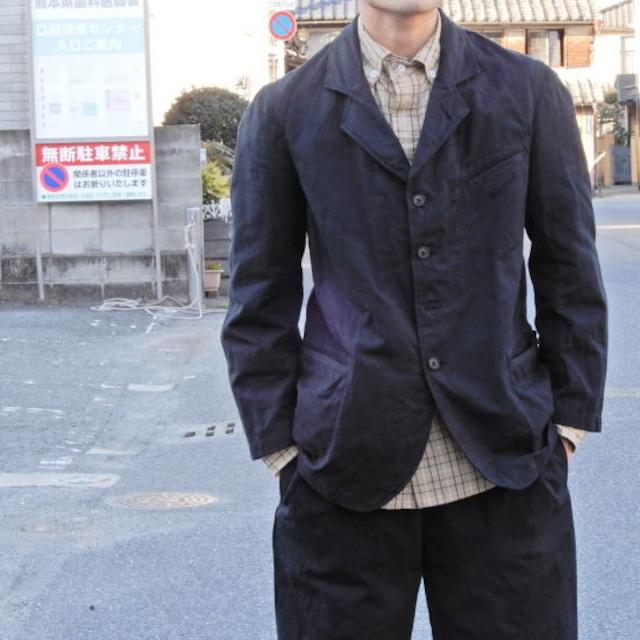 LOLO (ロロ)  綿麻 ビンテージジャケット ブラック