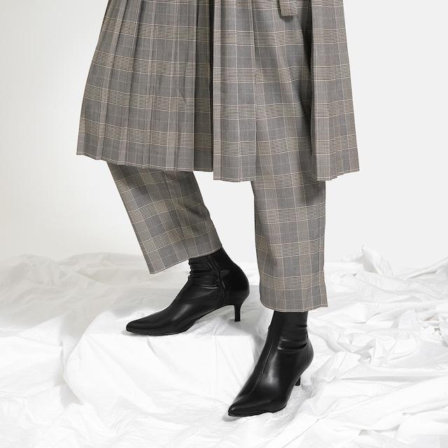 【一部難あり】ポインテッドトゥ ショートブーツ:ブラック Mサイズ(OT1466)
