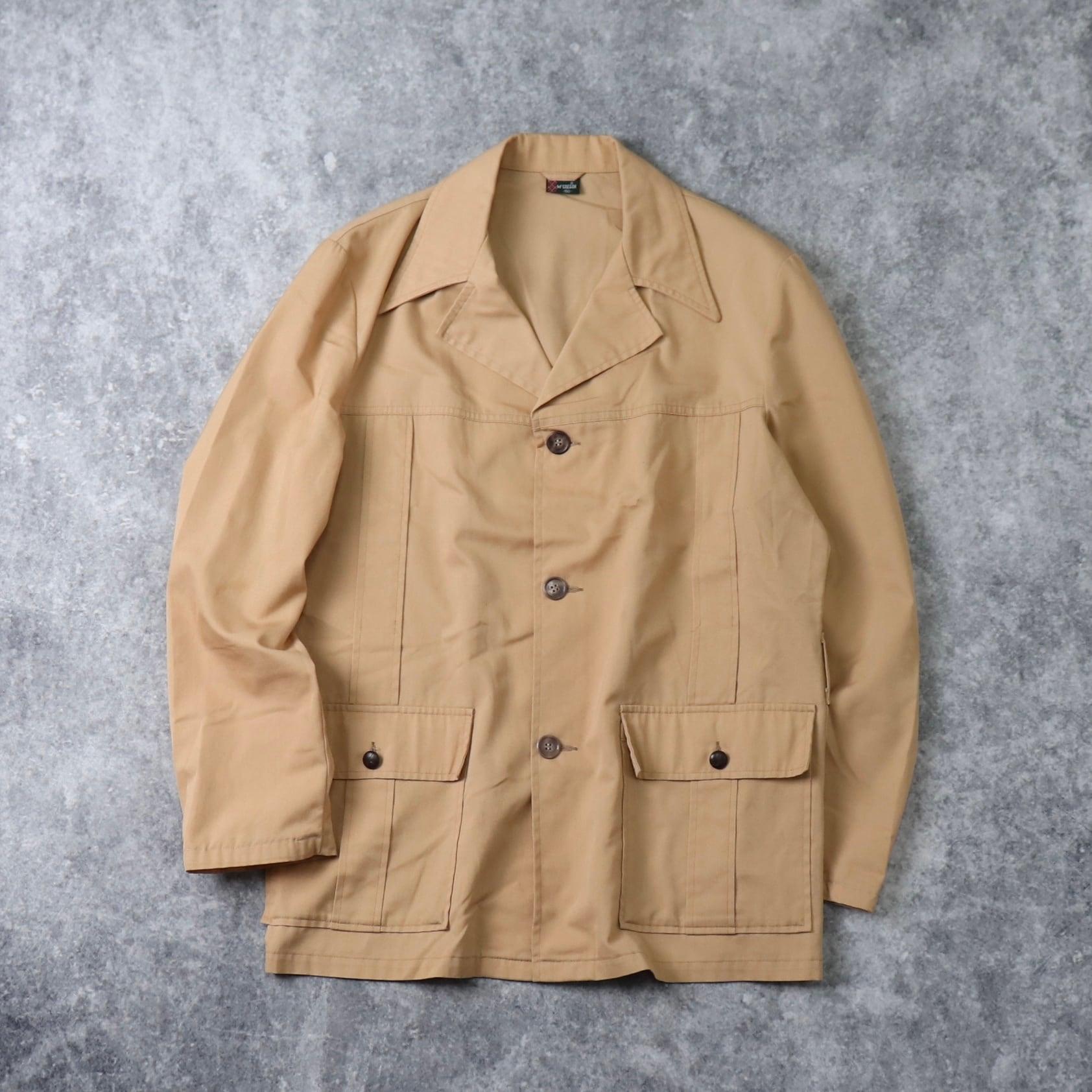 70's McGREGOR Shirt jacket 70年代 マクレガー マックレガー シャツジャケット ポリジャケ ポリシャツ ヒッピー ヴィンテージ  古着 A524