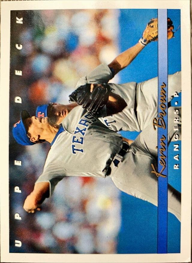 MLBカード 93UPPERDECK Kevin Brown #076 RANGERS