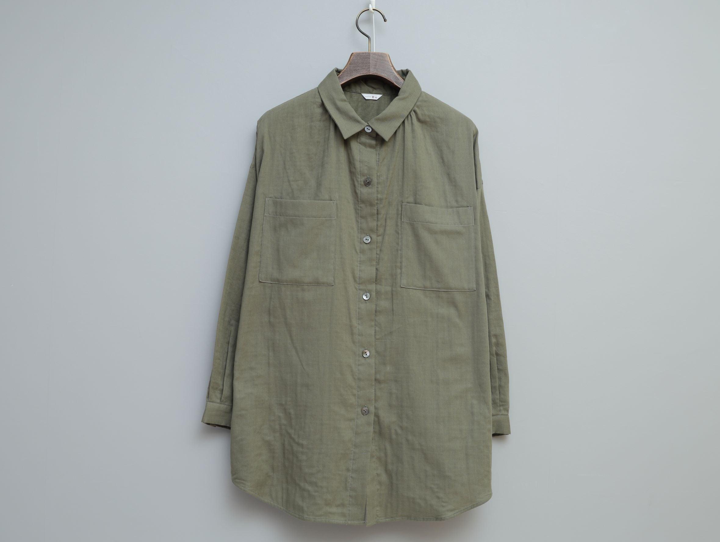 ナチュラル二重ガーゼのオーバーシャツ