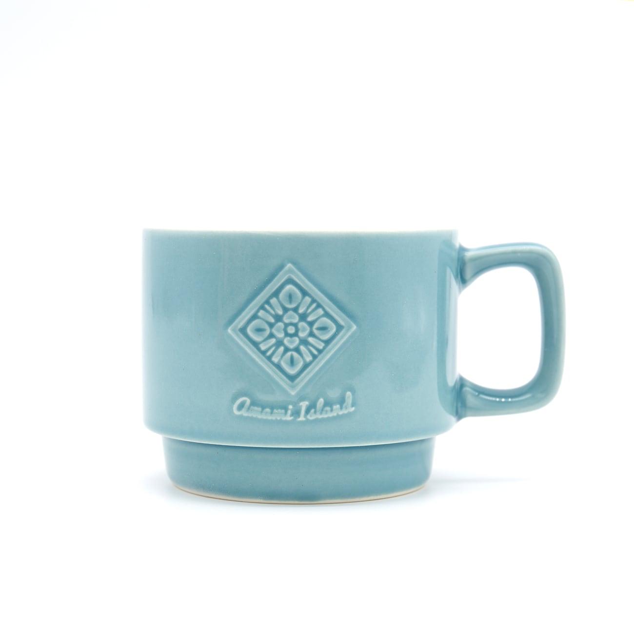 オリジナルマグカップ | ライトブルー | 紬柄