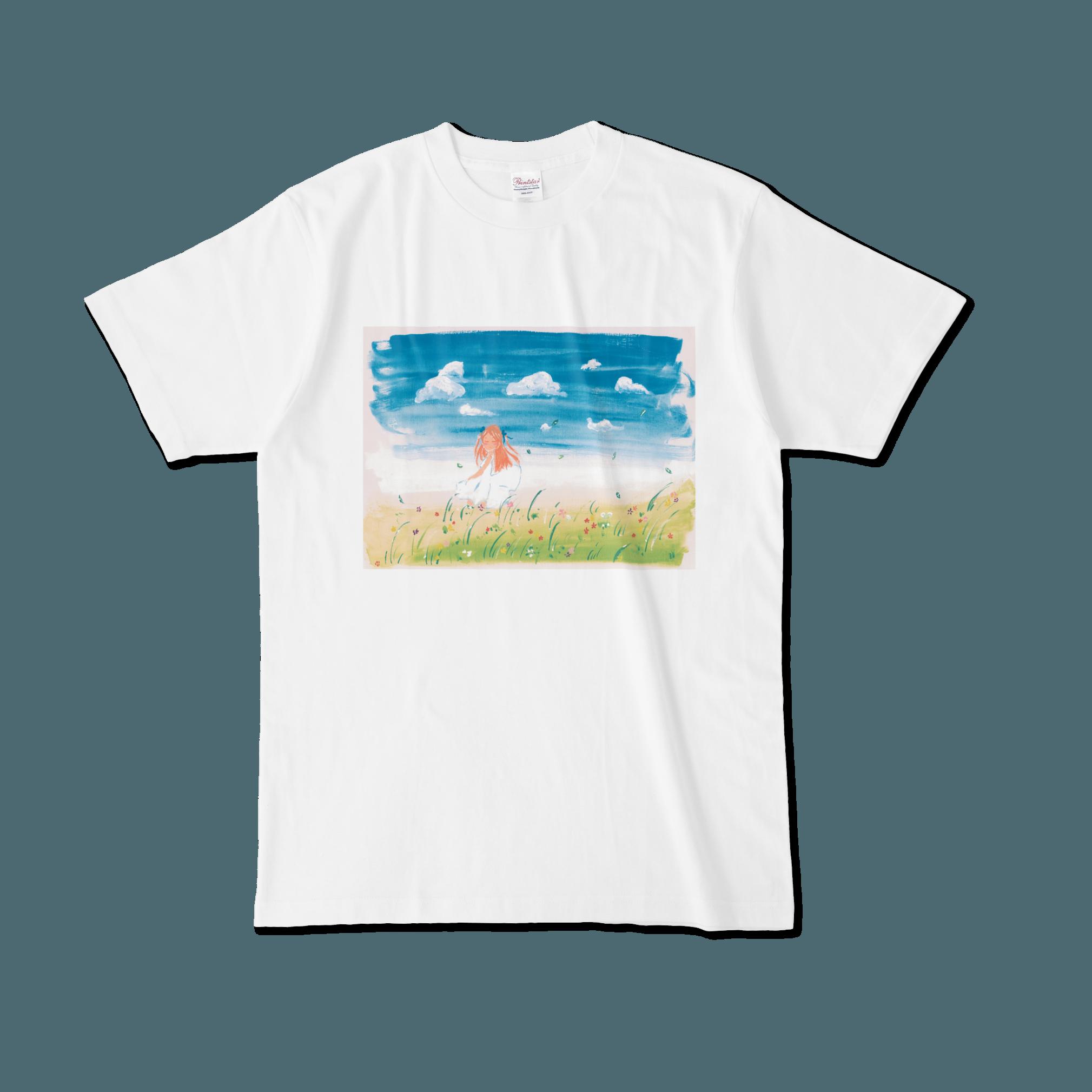 【税込・送料無料】姫彩ゆうな(ELECTRICJELLYFISH)デザインTシャツ「ワンピースの女の子」