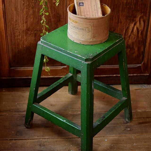 グリーンのスツール・花台