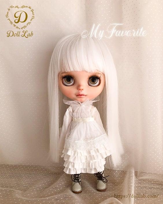 フロランタンストレート[12inch]ピュアホワイト 髪ありブライス ドール ウィッグ DWL001-A005-12in