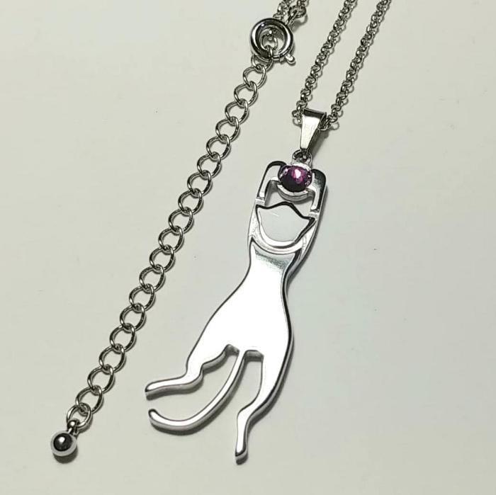 【プラプラ猫アクセサリー】 ネックレスやチャームに / 肌に優しい(金アレ)