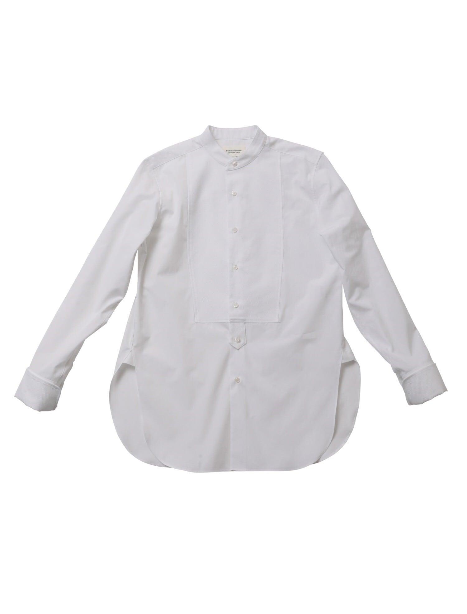 【beautiful people】ギャツビー シャーティング THE/aタキシードシャツ 1000106411