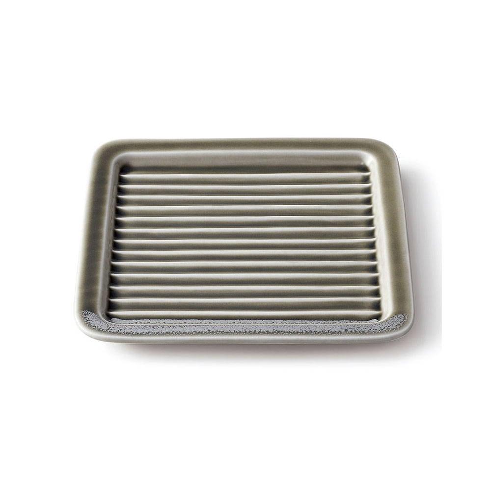 aito製作所 「Itsumo いつも」 サクッとトーストプレート 17.6cm グレー 美濃焼 262040