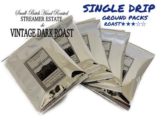 ヴィンテージダークロースト コーヒー VINTAGE DARK ROAST 5PACK  挽いた豆  (ブラジル・コロンビア)
