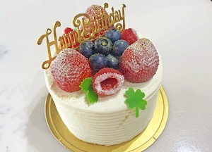 誕生日ケーキフルーツ盛り合わせ4号(2~4名様分)