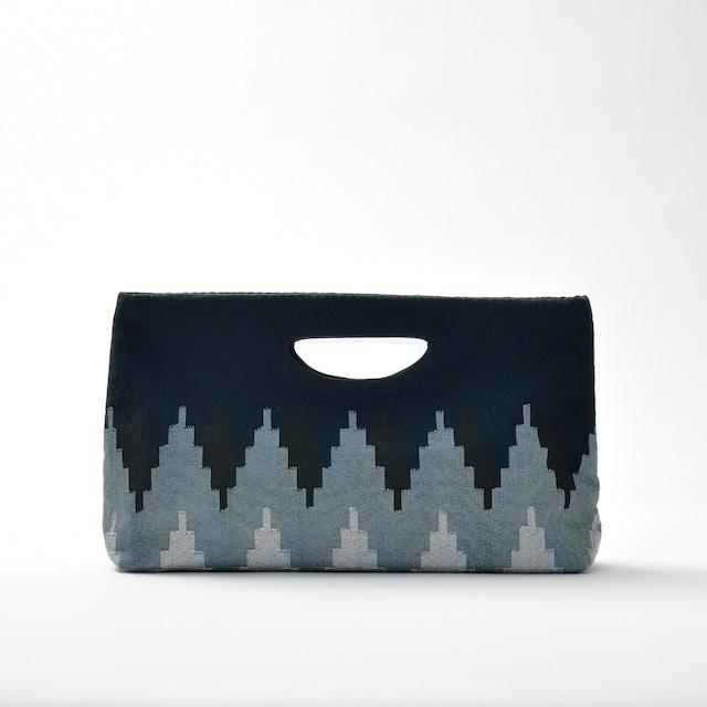 手織りペンシルバッグ ブラック