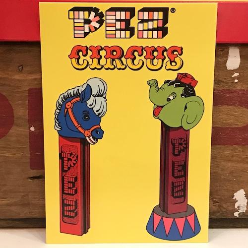 PEZ ペッツ ポストカード (厚紙仕様) サーカス U.S.A.製 2003年