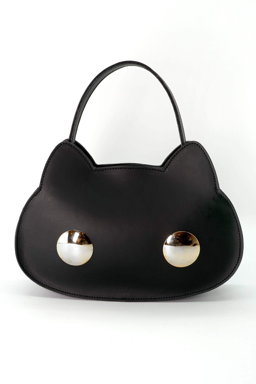 猫連合3WAYバッグ シルバー(牛革製)