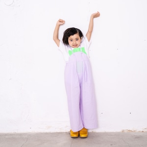AIRY WIDE OVERALLS DYED / LL