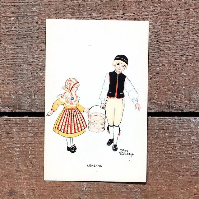 民族衣装カード「LEKSAND(NATIONAL BILDER - 03)」《201213-03》