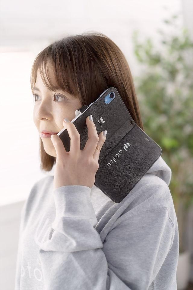 【otosica】iPhone SE (第2世代) iPhone8/7 手帳型ケース ブラック