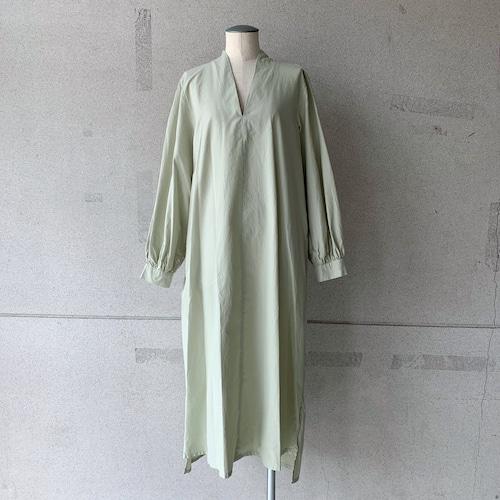【COSMIC WONDER】Beautiful Silk cotton v-necked dress/12CW17233-2