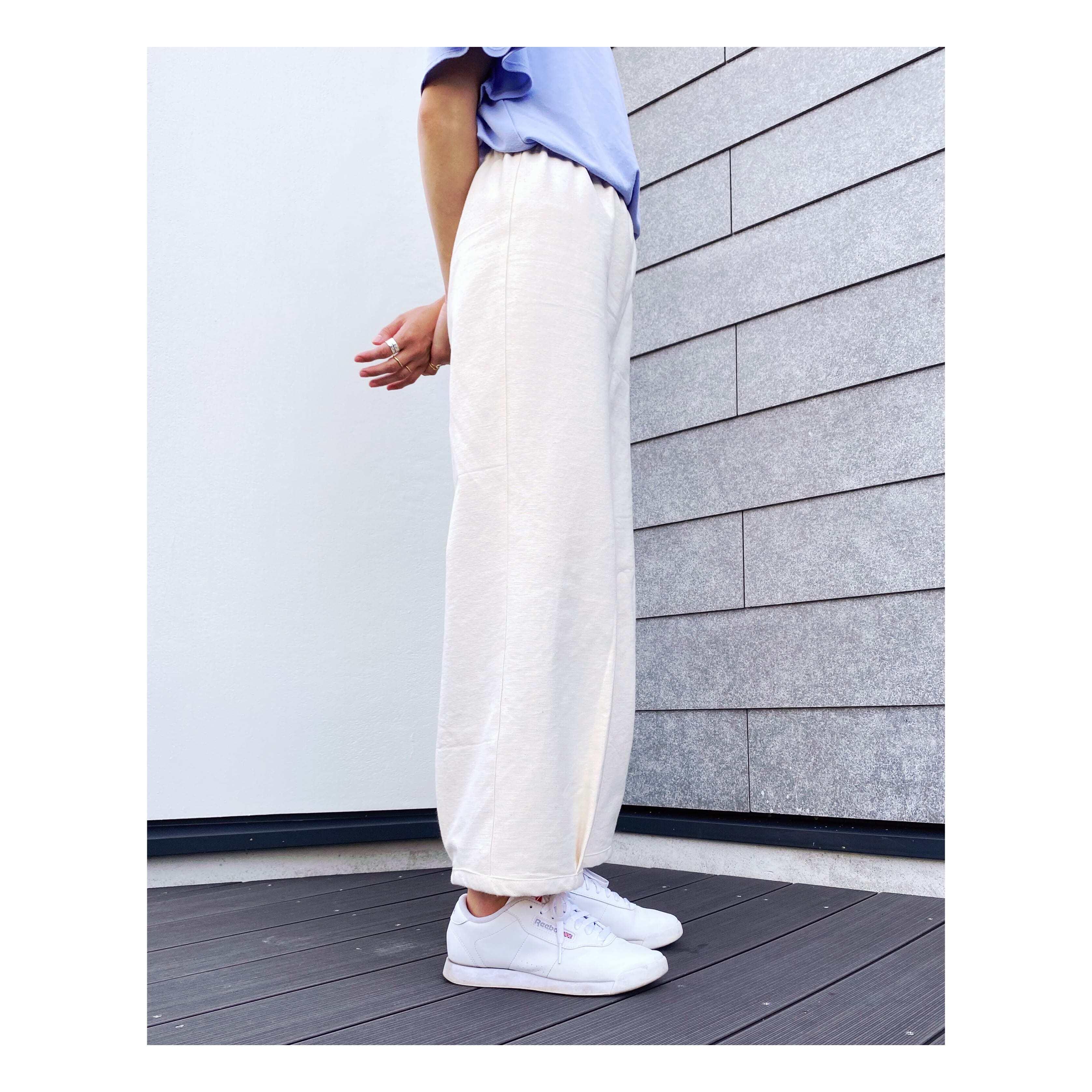裾タックパンツ型紙【DL版/レシピ付き】商用利用可能