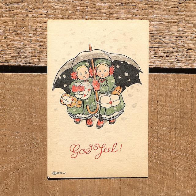 クリスマスカード「Elsa Beskow(エルサ・ベスコフ)」《210213-07》