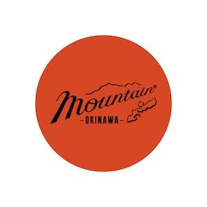 Mountain オリジナルロゴ サークルステッカー / Flame orange