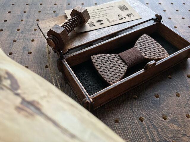 木製 蝶ネクタイ #Chocolat - 画像2