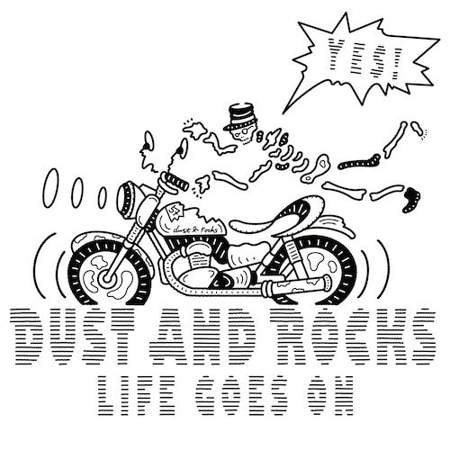 "Yutaka Nojima × DUST AND ROCKS  T-shirts ""LIFE GOES ON"""