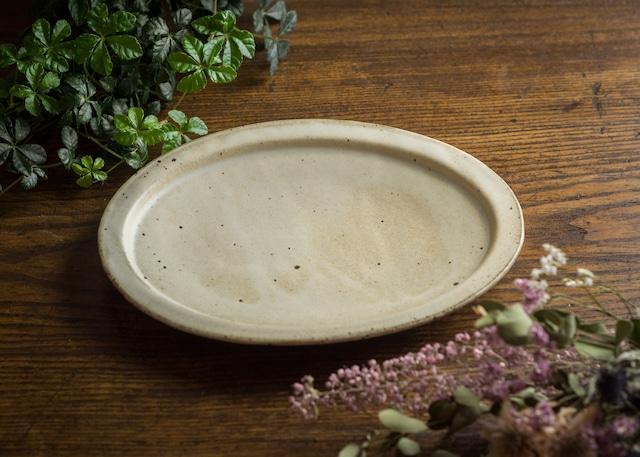 白マット釉 オーバル皿 大(ディナープレート・プラター・大皿)/くるり窯