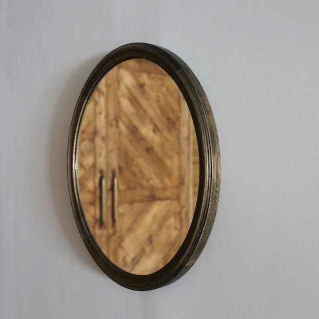 #08-02  Antique round mirror