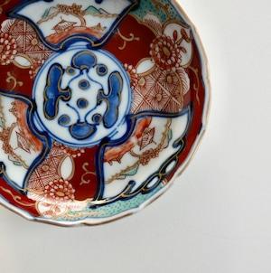 〈再入荷〉【21217】伊万里 赤絵小皿 明治/ Imari Small Plate/ Meiji