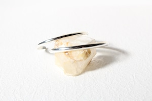 """""""receiving mode"""" simple bangle【silver】L"""