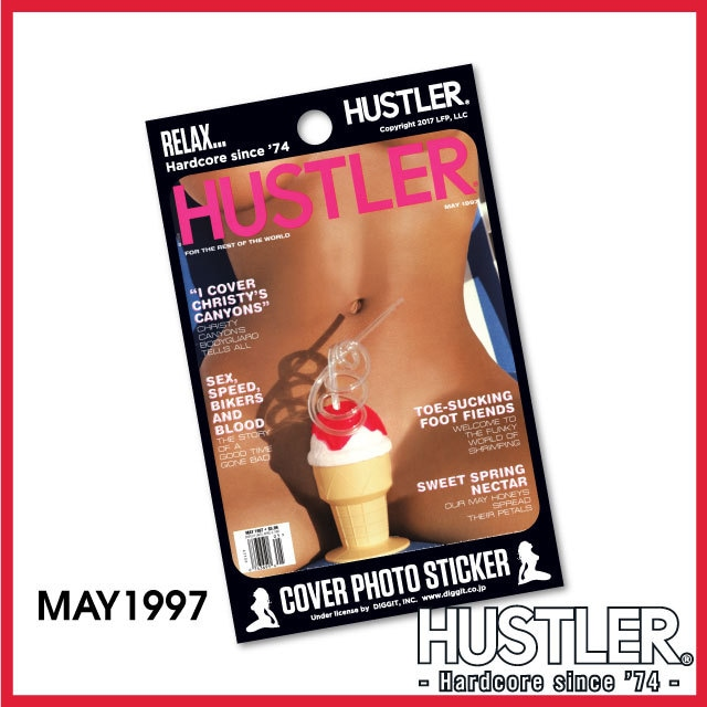 セクシー系金髪お姉ちゃんステッカー・HUSTLER COVER PHOTO STICKER (ハスラーカバーフォトステッカー) / 1997 MAY