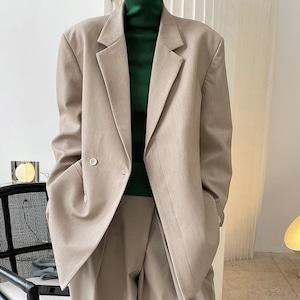 2色/ルーズテーラードジャケット ・3166