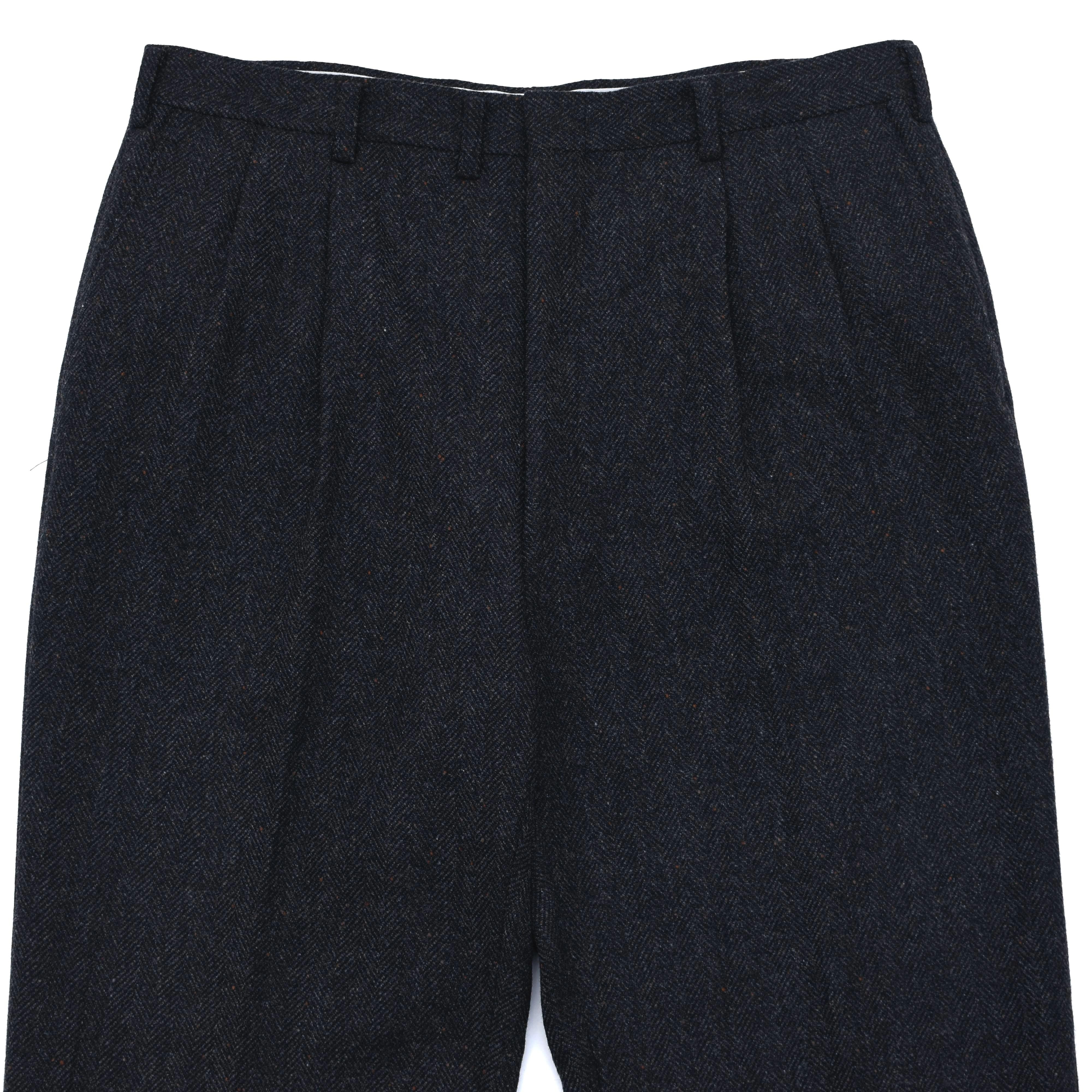 Herringbone donegal tweed wool slacks