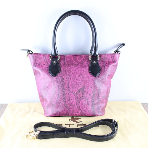.ETRO PEISLEY PATTERNED 2WAY SHOULDER BAG MADE IN ITALY/エトロペイズリー柄2wayショルダーバッグ2000000051734