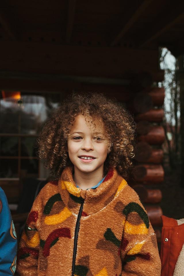 【21AW】カーラインク(CARLIJNQ)Mountain Air teddy sweater wt zipper&pockets 迷彩 ボアパーカー