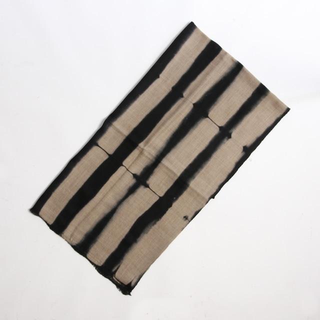 Hand Woven Baby Wool Sakaboushi Shibori Stripe ベビーウール ショール #1065[ suzusan ]