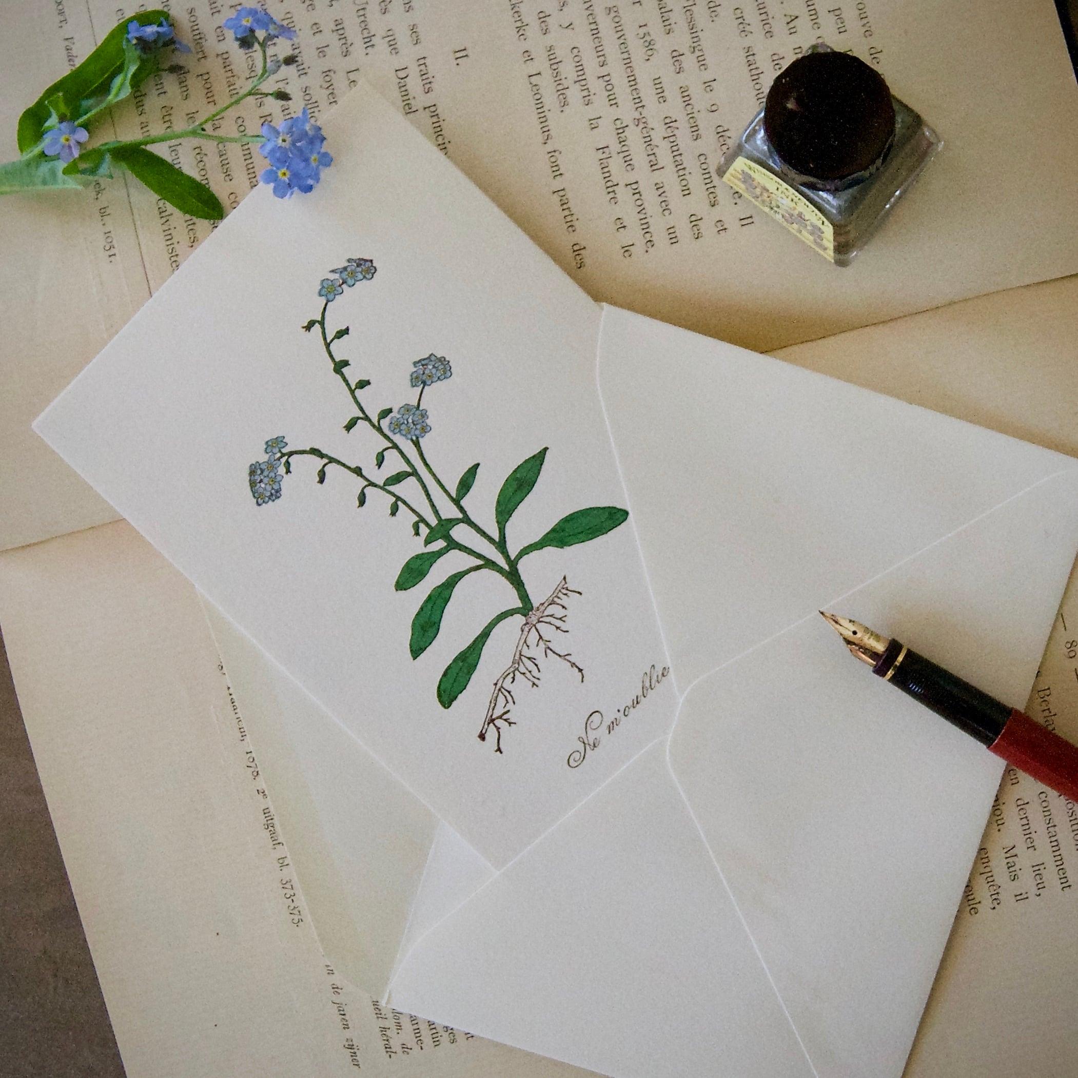 【カード 大】 ワスレナグサ / カード1枚+封筒1枚/活版印刷