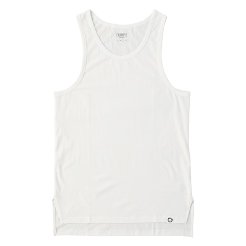 EXAMPLE UNDERWEAR 2PACK LONG TANK TOP / WHITE & WHITE