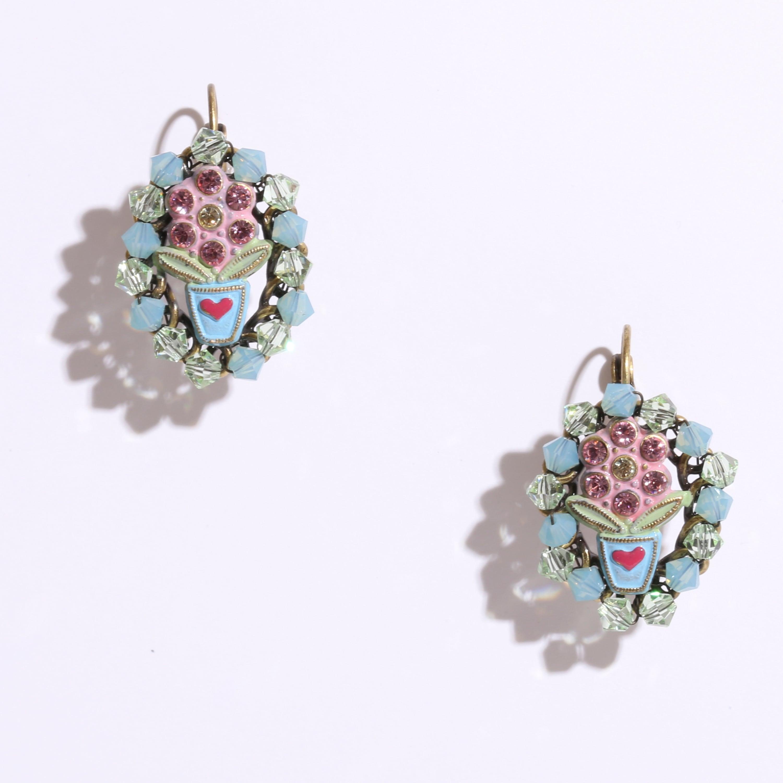 Carousel earring stud dangllng ピアスFlower