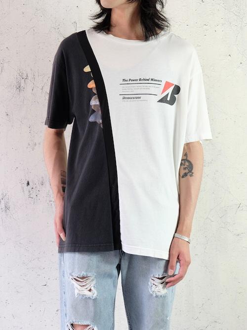 switching mesh T-shirt ①