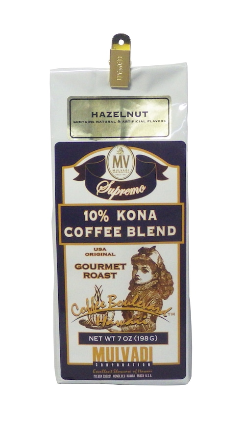 ヘーゼルナッツ(挽き済みの粉) マルバディ(7oz 198g) ハワイコナコーヒー フレーバーコーヒー