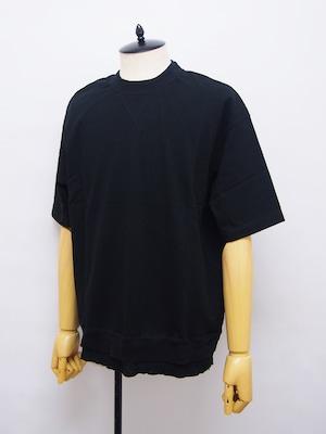 EGO TRIPPING (エゴトリッピング) LAYERED TEE レイヤードTシャツ / BLACK 663851-05