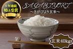 E588 【H30収穫米】みやき町産『さがびより(玄米40kg)』8年連続特A受賞