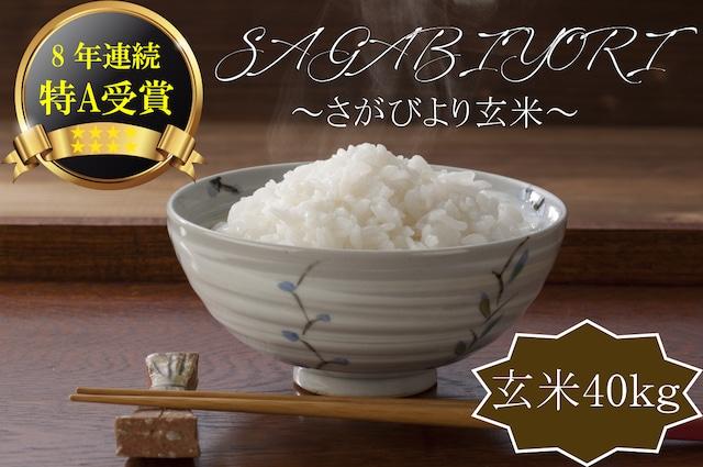 A588 【H30収穫米】みやき町産『さがびより(玄米5kg)』8年連続特A受賞