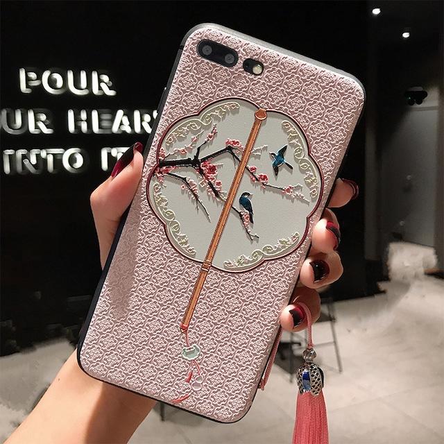 【YIKEシリーズ】★チャイナ風携帯ケース★2color選択可能 iPhoneX XS XSMax XR iPhone7/8 7plus/8plus